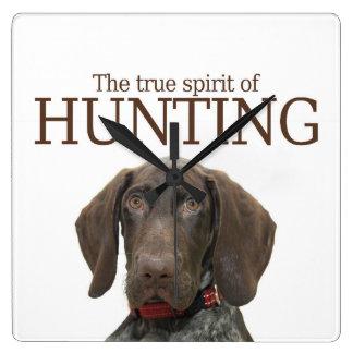 Glossy Grizzly true spirit of hunting Wallclocks