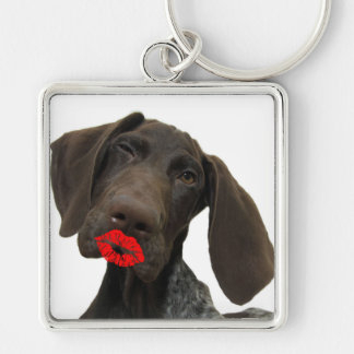 Glossy Grizzly Valentine's Puppy Love Keychains
