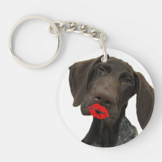 Glossy Grizzly Valentine's Puppy Love Key Chain