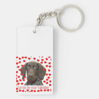 Glossy Grizzly Valentine's Puppy Love Acrylic Key Chains