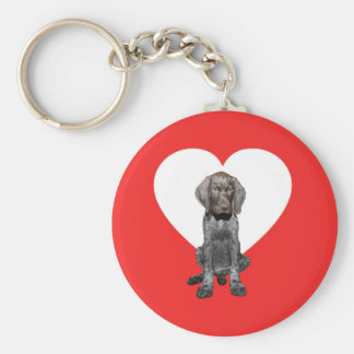 Glossy Grizzly Valentine's Puppy Love Key Chains