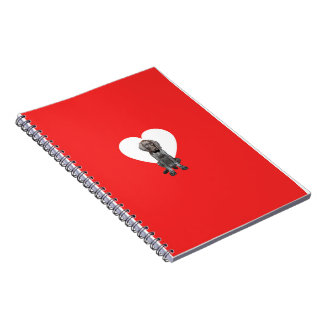 Glossy Grizzly Valentine's Puppy Love Notebook
