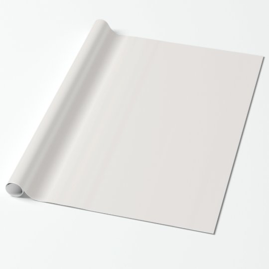 Glossy Isabelline White Wrapping Paper