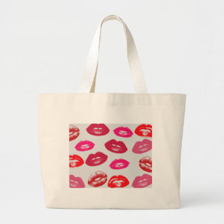 Glossy Lips Large Tote Bag