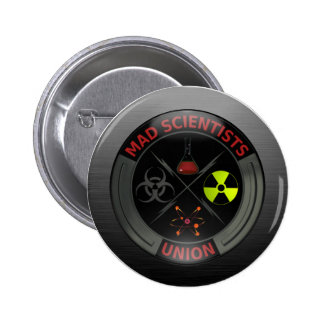 Glossy Mad Scientist Union Button