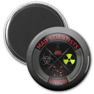 Glossy Mad Scientist Union Button 6 Cm Round Magnet