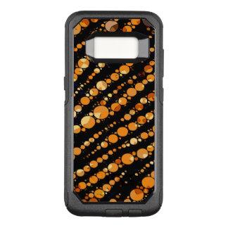Glossy Orange Black Zebra Abstract OtterBox Commuter Samsung Galaxy S8 Case
