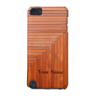 Glossy orange natural wooden planks iPod touch 5G case