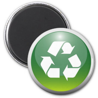 Glossy Recycling Sign Magnet