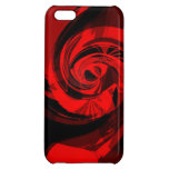 Glossy red&black iPhone5 case Cover For iPhone 5C