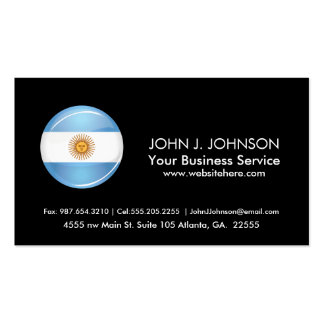 Glossy Round Argentina Flag Pack Of Standard Business Cards