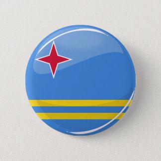 Glossy Round Aruba Flag 6 Cm Round Badge