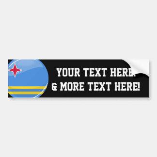 Glossy Round Aruban Flag Bumper Sticker