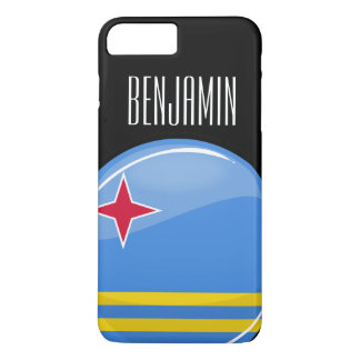 Glossy Round Aruban Flag iPhone 7 Plus Case