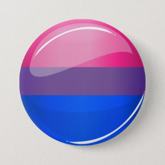 Glossy Round Bisexuality Flag 7.5 Cm Round Badge