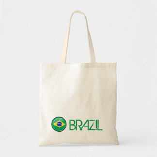Glossy Round Brazilian Flag Tote Bag