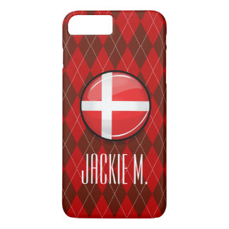 Glossy Round Denmark Flag iPhone 7 Plus Case