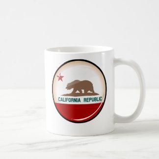 Glossy Round Flag of California Basic White Mug