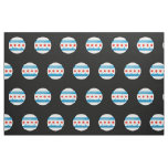 Glossy Round Flag of Chicago Fabric