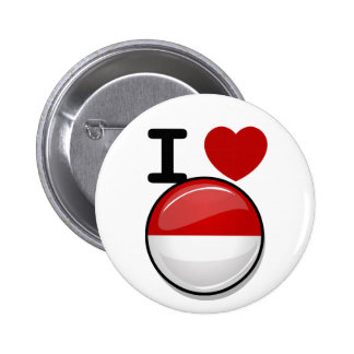Glossy Round Flag of Poland 2 Inch Round Button