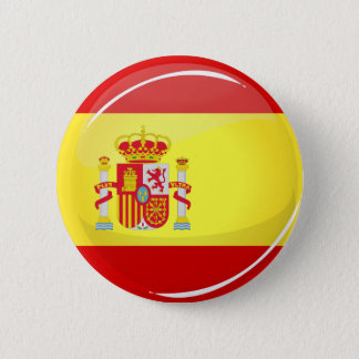 Glossy Round Flag of Spain 6 Cm Round Badge