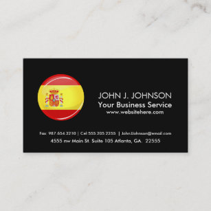 Spanish flag business cards business card printing zazzle uk glossy round flag of spain business card reheart Image collections