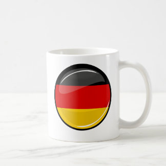 Glossy Round German Flag Basic White Mug
