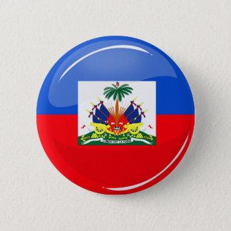 Glossy Round Haitian Flag 6 Cm Round Badge