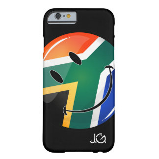 Glossy Round Happy South African Flag Barely There iPhone 6 Case