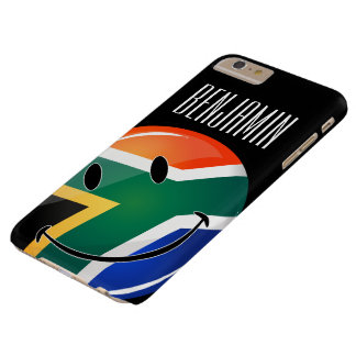 Glossy Round Happy South African Flag Barely There iPhone 6 Plus Case