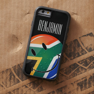 Glossy Round Happy South African Flag Tough Xtreme iPhone 6 Case