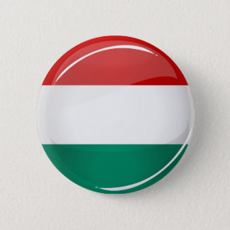 Glossy Round Hungarian Flag 6 Cm Round Badge