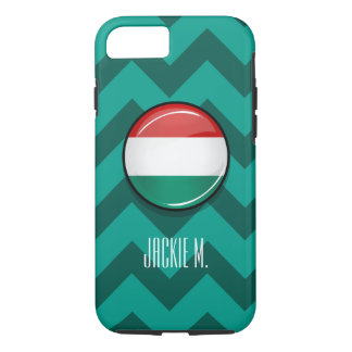 Glossy Round Hungarian Flag iPhone 7 Case