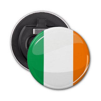 Glossy Round Irish Flag Bottle Opener