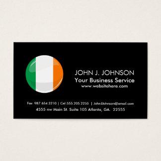 Glossy Round Irish Flag Business Card