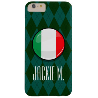 Glossy Round Italian Flag Barely There iPhone 6 Plus Case