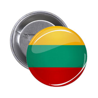 Glossy Round Lithuanian Flag 6 Cm Round Badge