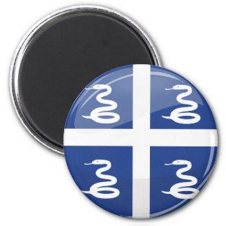 Glossy Round Martinique Flag 6 Cm Round Magnet