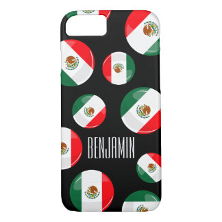 Glossy Round Mexican Flag iPhone 7 Case