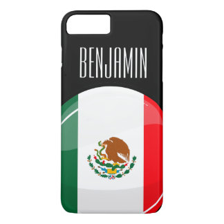 Glossy Round Mexican Flag iPhone 7 Plus Case