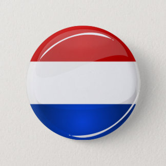 Glossy Round Netherlands Flag 6 Cm Round Badge