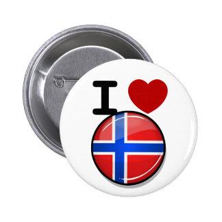 Glossy Round Norway Flag 6 Cm Round Badge
