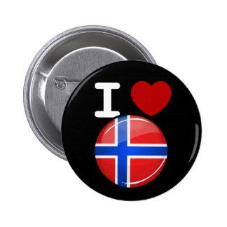 Glossy Round Norway Flag 2 Inch Round Button