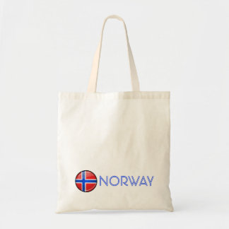 Glossy Round Norway Flag Tote Bag