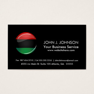 Glossy Round Pan-African Flag
