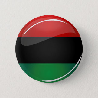 Glossy Round Pan-African Flag 6 Cm Round Badge