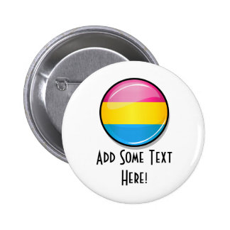 Glossy Round Pansexual Pride Flag 6 Cm Round Badge