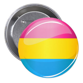 Glossy Round Pansexual Pride Flag 7.5 Cm Round Badge