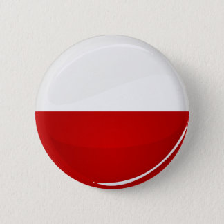 Glossy Round Polish Flag 6 Cm Round Badge