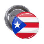 Glossy Round Puerto Rican Flag 6 Cm Round Badge